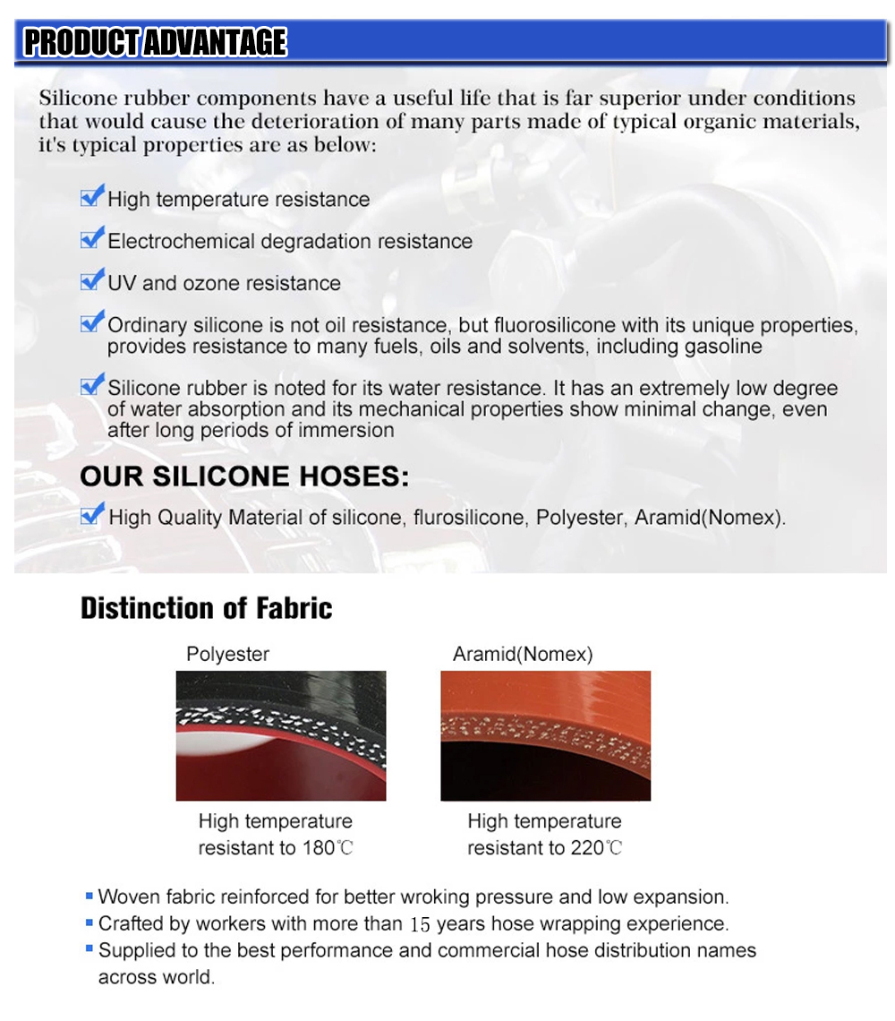 High Temperature Flexible Straight Silicone Couplers